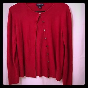 Ann Taylor Red Cardigan Size M Perfect 4 Christmas